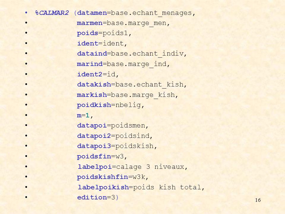 %CALMAR2 (datamen=base.echant_menages,