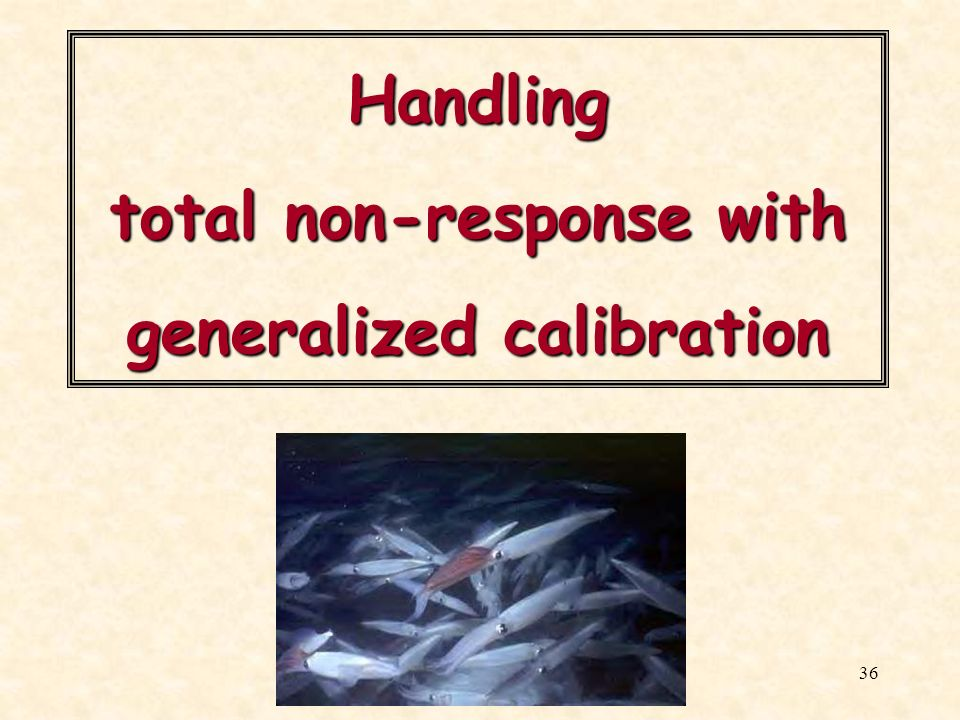 Handling total non-response with generalized calibration