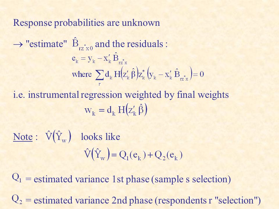 Response probabilities are unknown