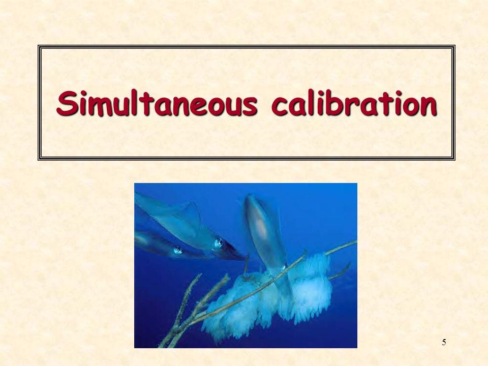 Simultaneous calibration