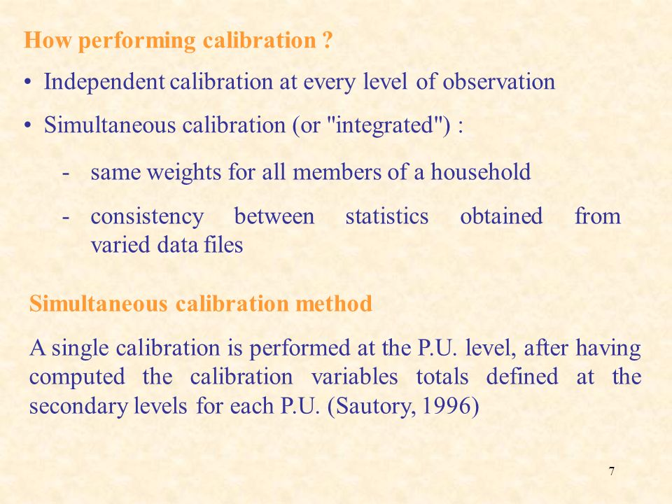 How performing calibration