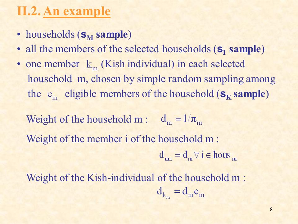 II.2. An example households (sM sample)