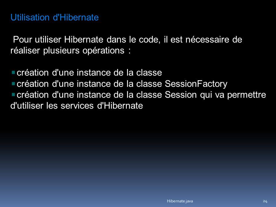 Utilisation d Hibernate