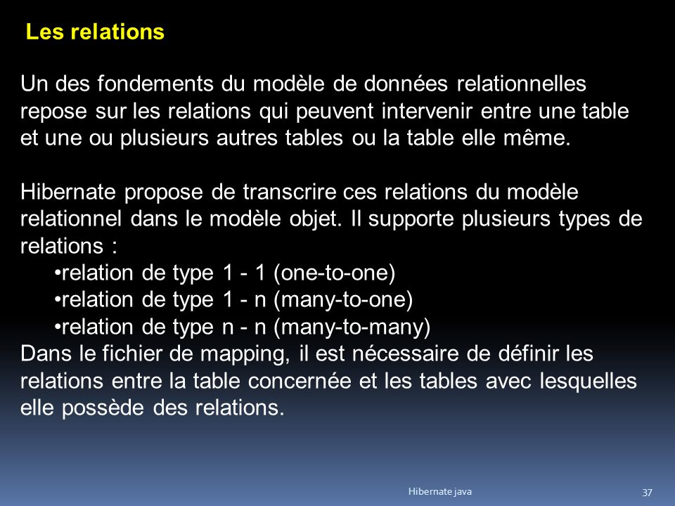 relation de type 1 - 1 (one-to-one)