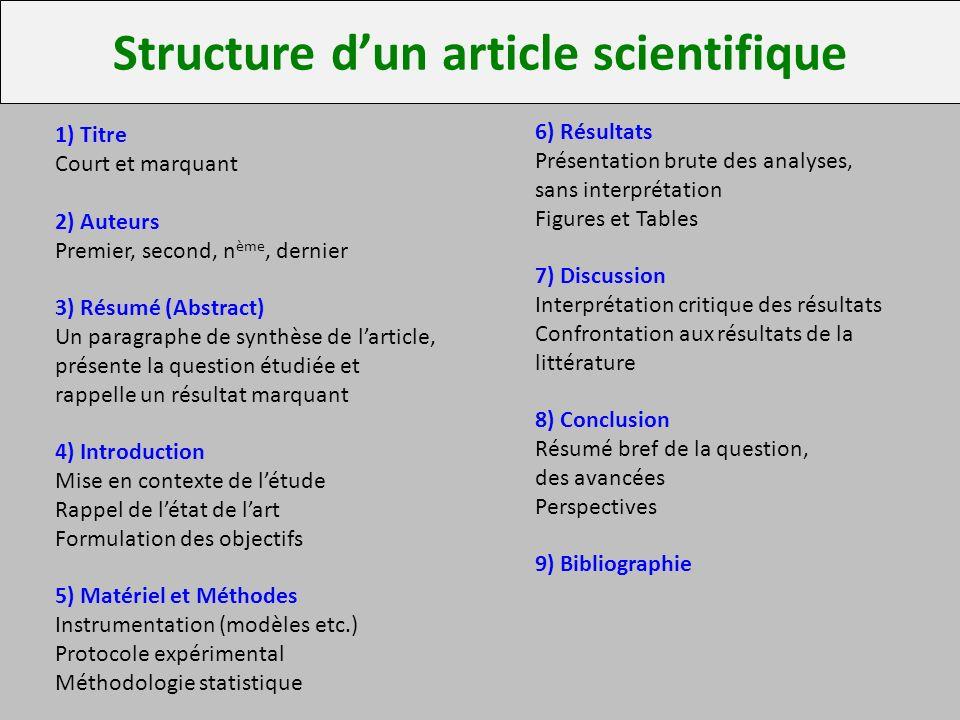 critique darticle scientifique Ce texte propose d'aborder le thème de la publication scientifique, et plus particulièrement, de comprendre la structure d'un article scientifique, tout en travaillant deux dimensions très importantes du travail : l'analyse et la critique.