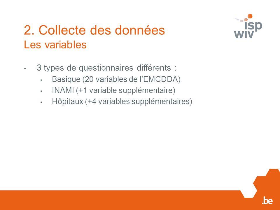 2. Collecte des données Les variables