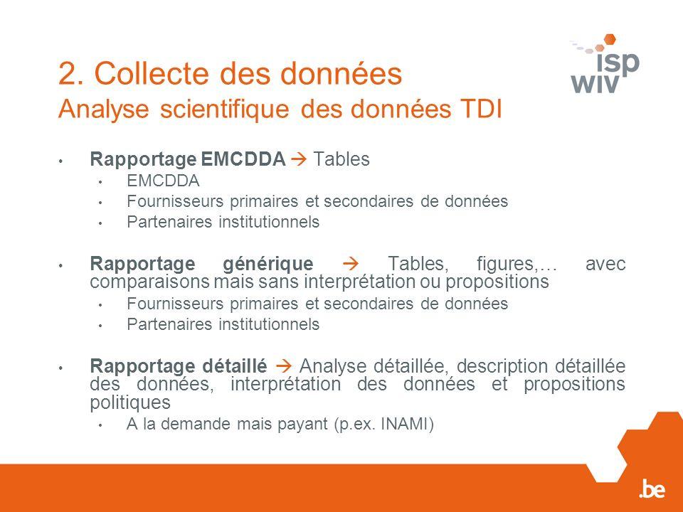 2. Collecte des données Analyse scientifique des données TDI