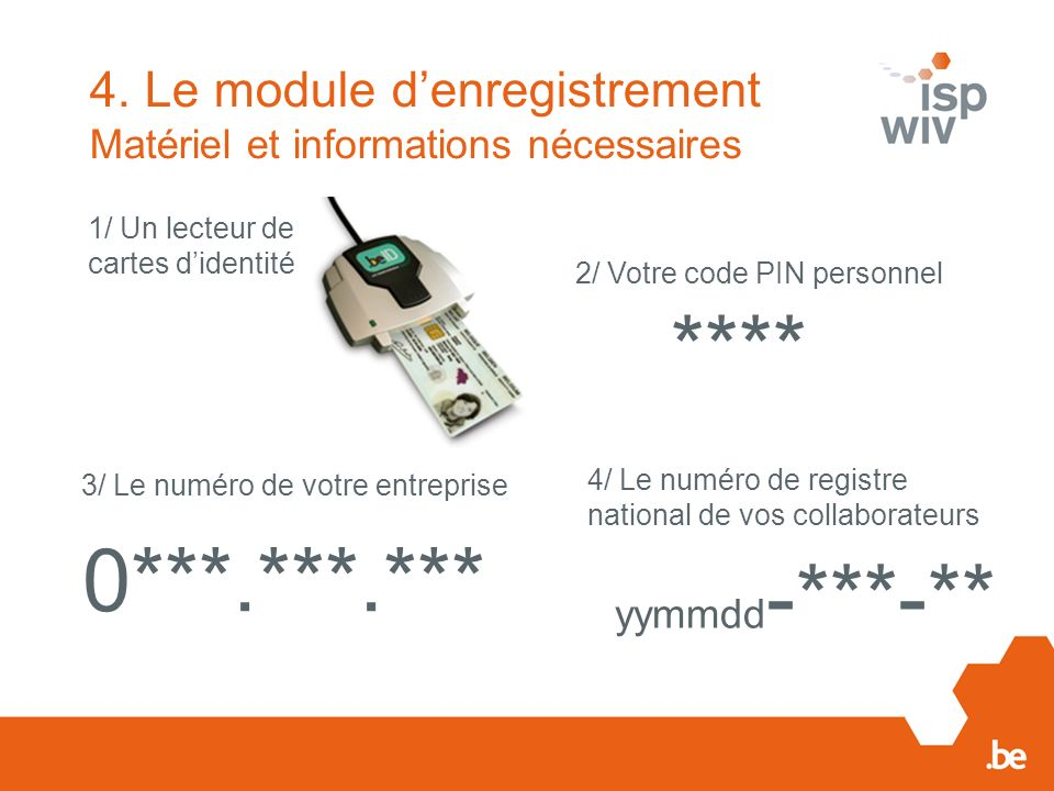 **** 0***.***.*** 4. Le module d'enregistrement