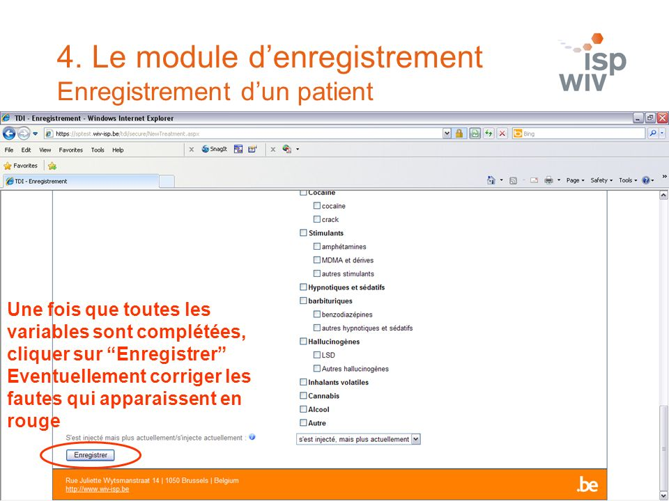 4. Le module d'enregistrement