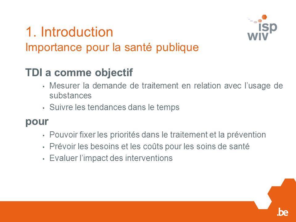 1. Introduction Importance pour la santé publique