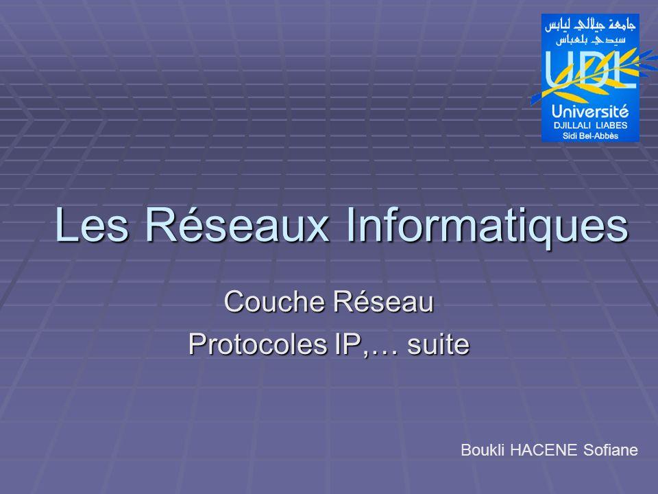 Couche Réseau Protocoles IP,… suite