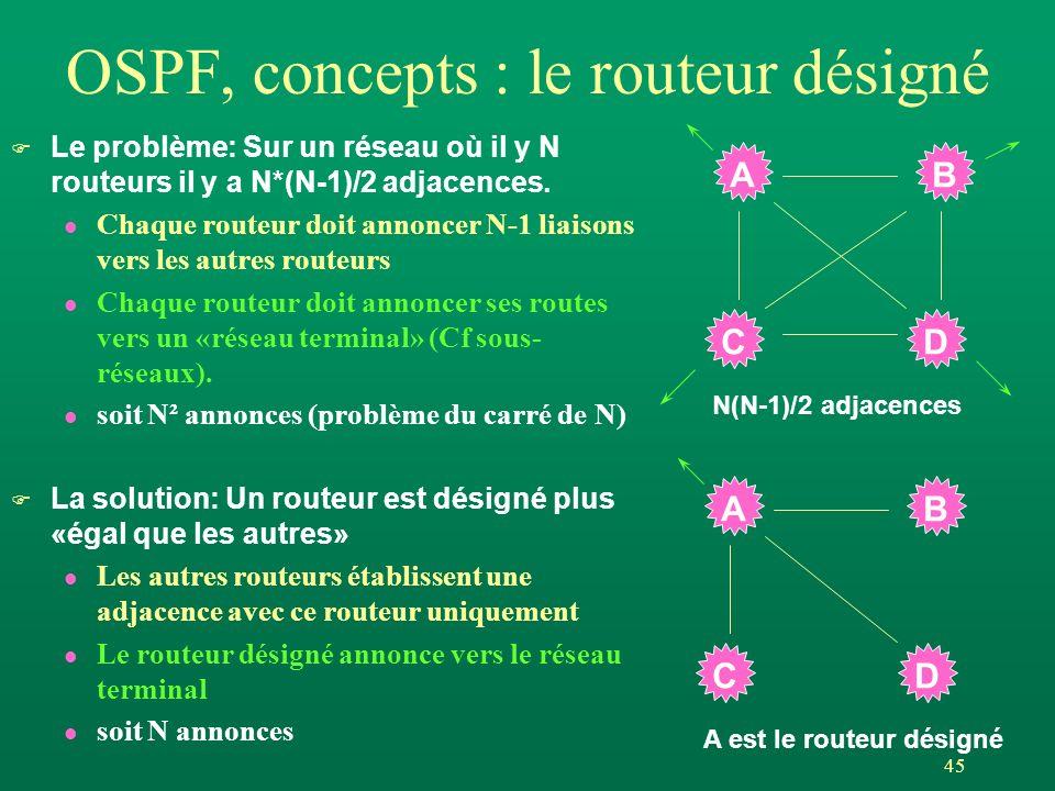 OSPF, concepts : le routeur désigné