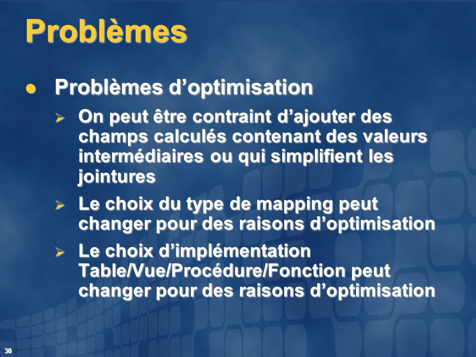 Problèmes Problèmes d'optimisation