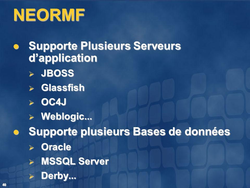 NEORMF Supporte Plusieurs Serveurs d'application