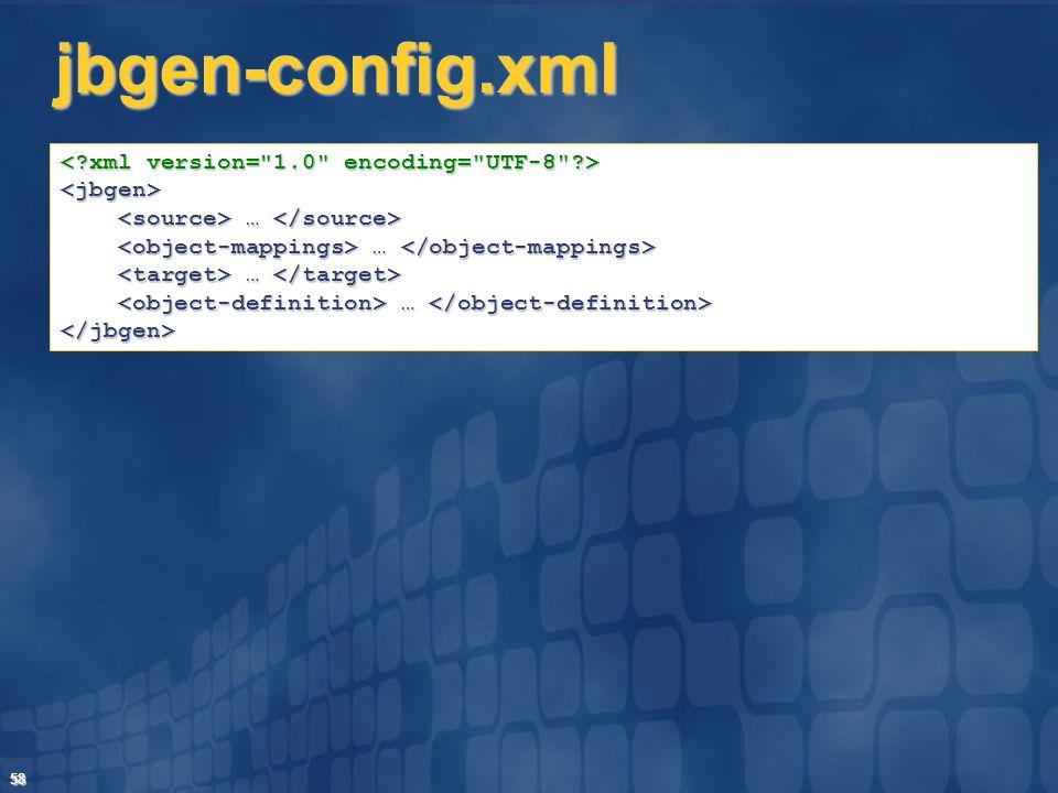 jbgen-config.xml < xml version= 1.0 encoding= UTF-8 >