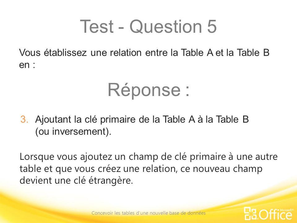 Concevoir les tables d'une nouvelle base de données