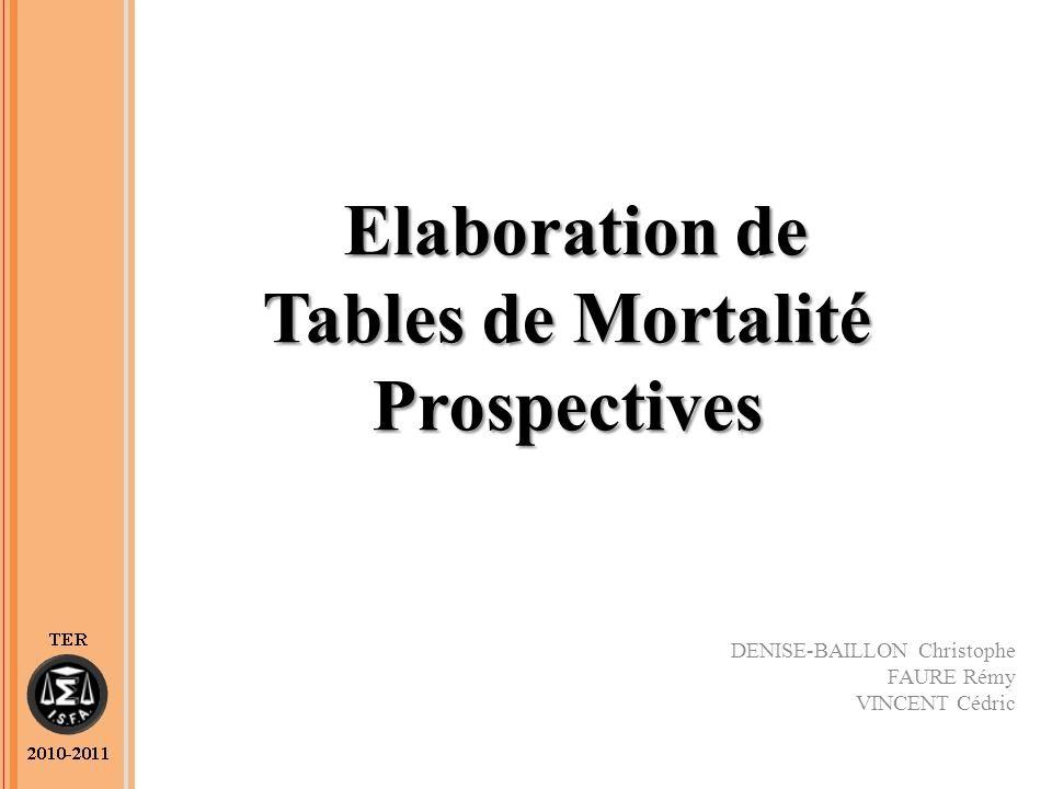 Elaboration de Tables de Mortalité Prospectives