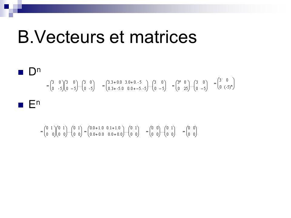 B.Vecteurs et matrices Dn En