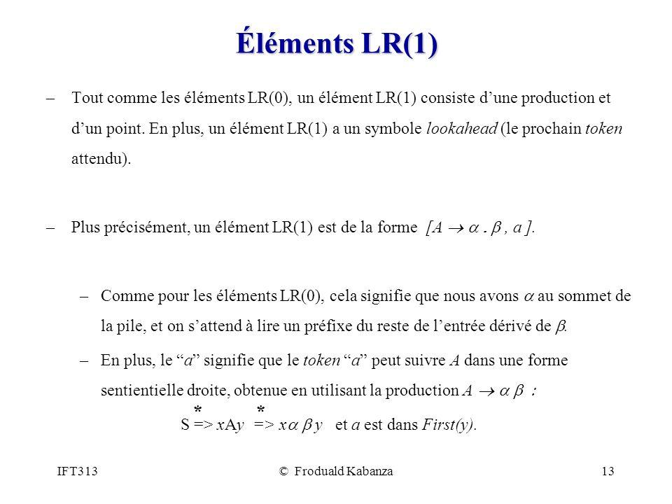 Éléments LR(1)