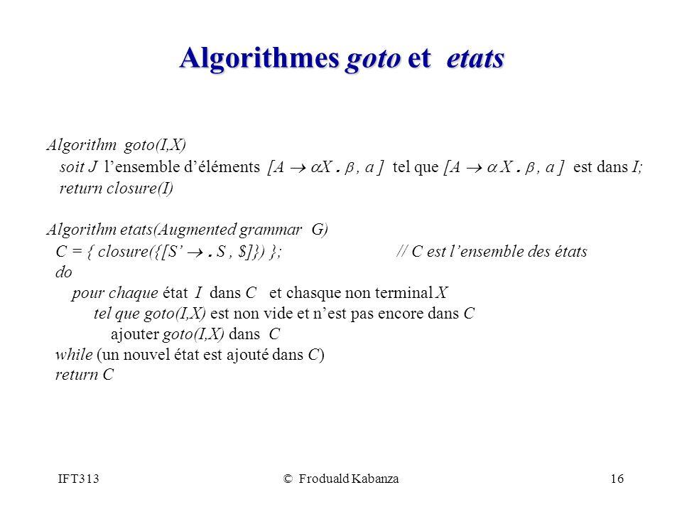 Algorithmes goto et etats
