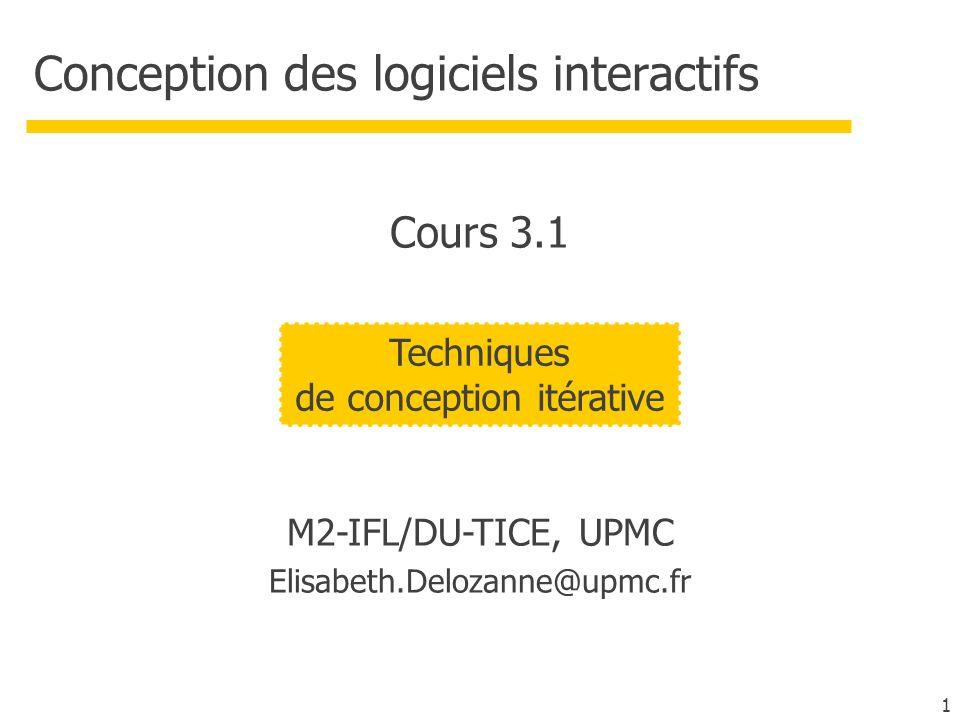 Conception des logiciels interactifs