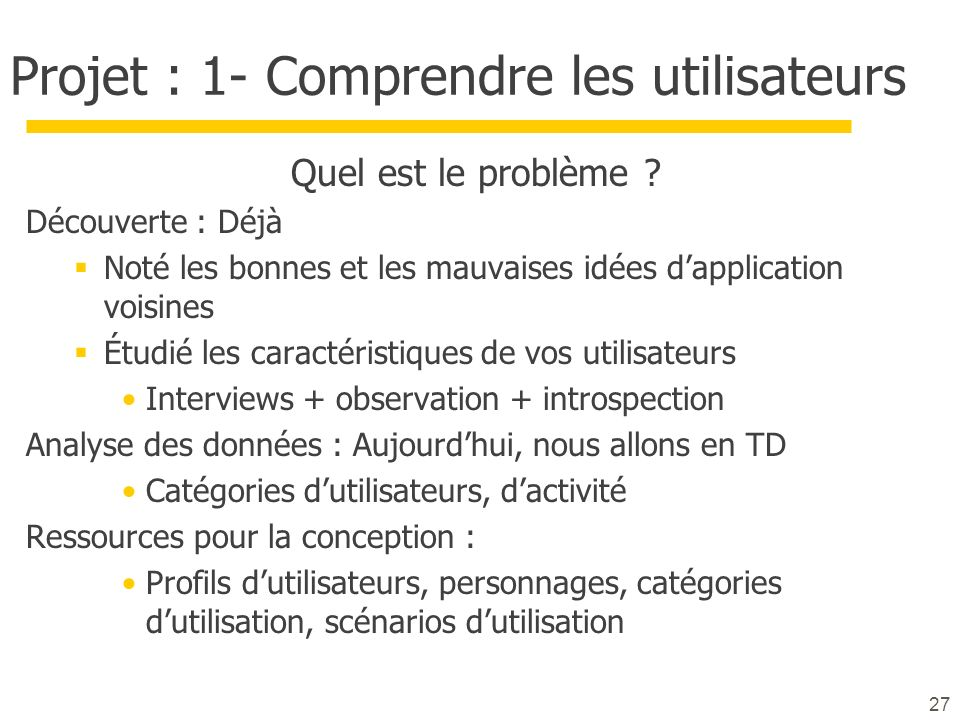 Projet : 1- Comprendre les utilisateurs
