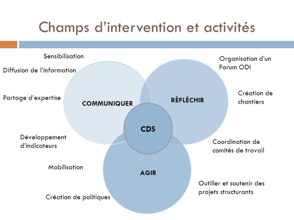 Champs d'intervention et activités