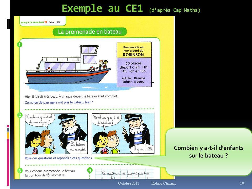 Exemple au CE1 (d'après Cap Maths)