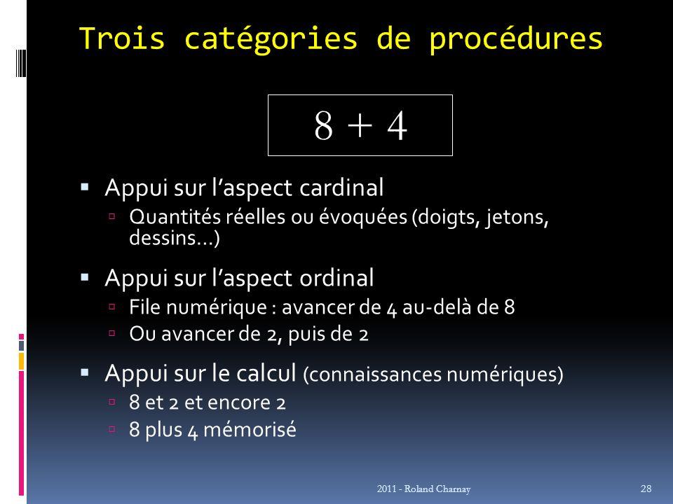 Trois catégories de procédures