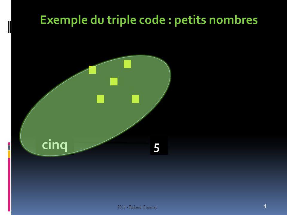 Exemple du triple code : petits nombres