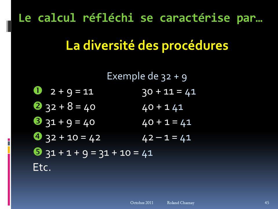 Le calcul réfléchi se caractérise par…