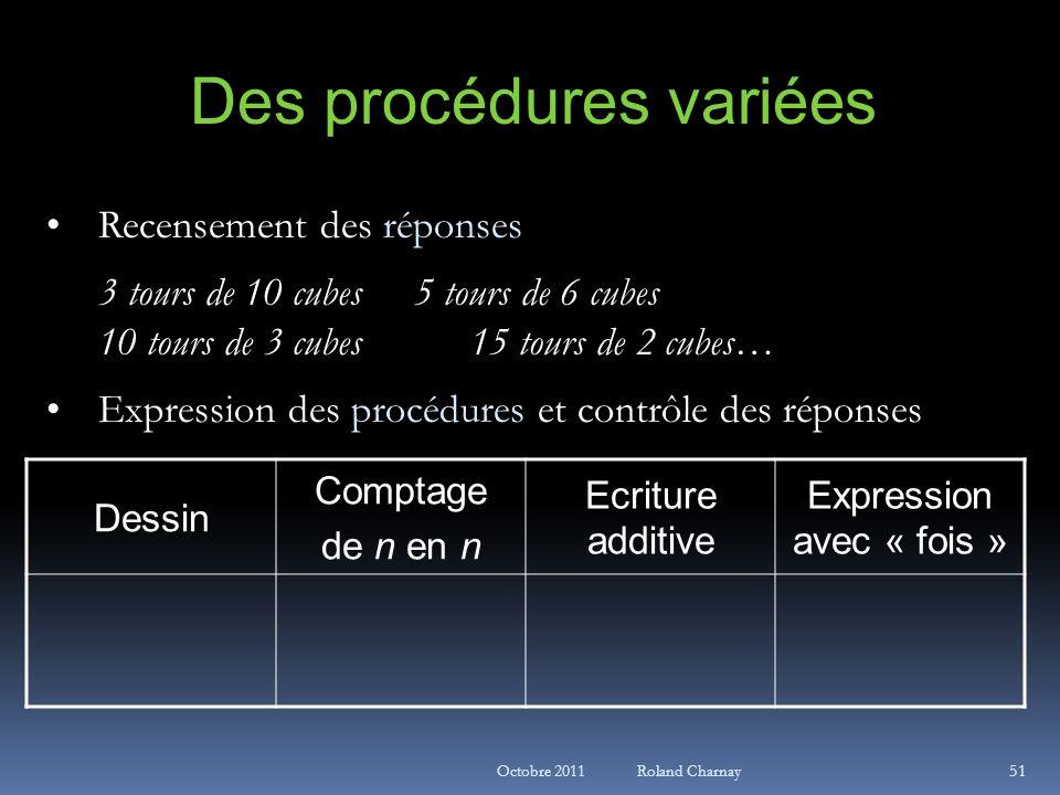 Des procédures variées