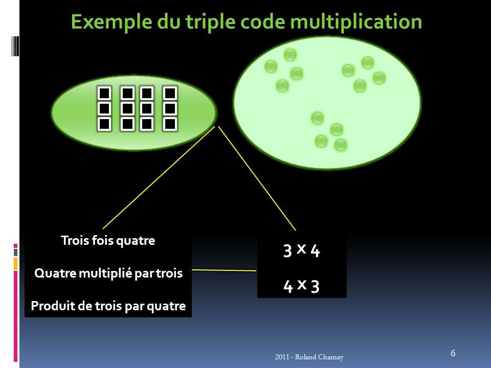 Exemple du triple code multiplication