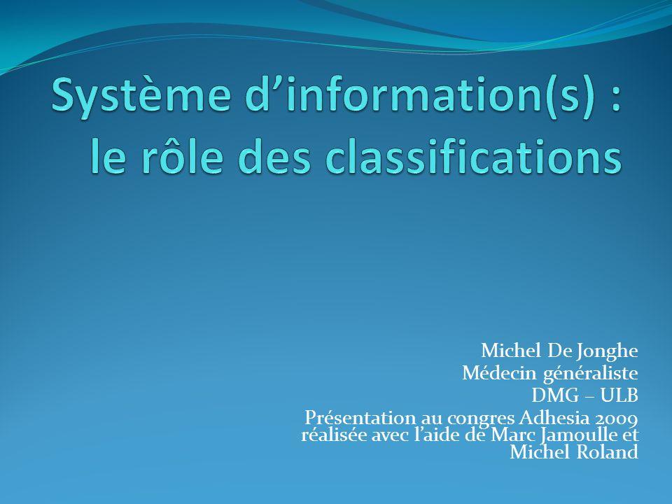 Système d'information(s) : le rôle des classifications
