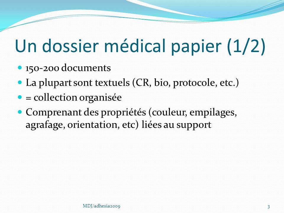 Un dossier médical papier (1/2)