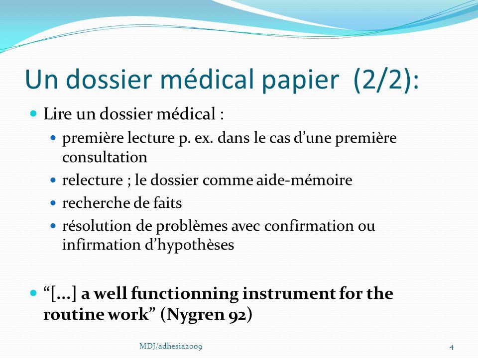 Un dossier médical papier (2/2):