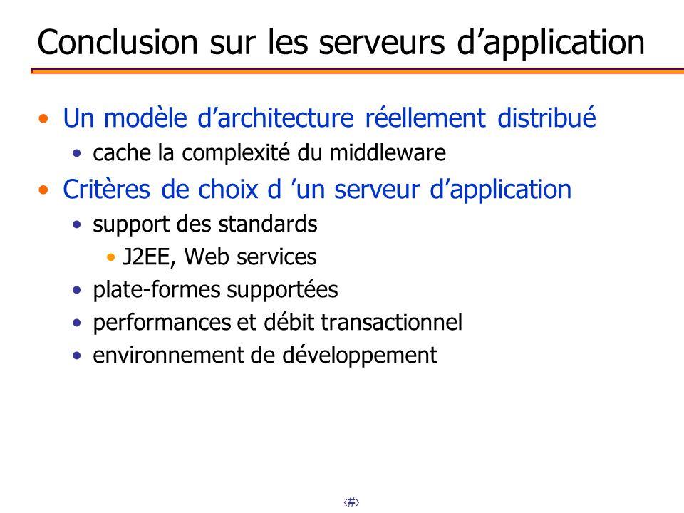 Conclusion sur les serveurs d'application