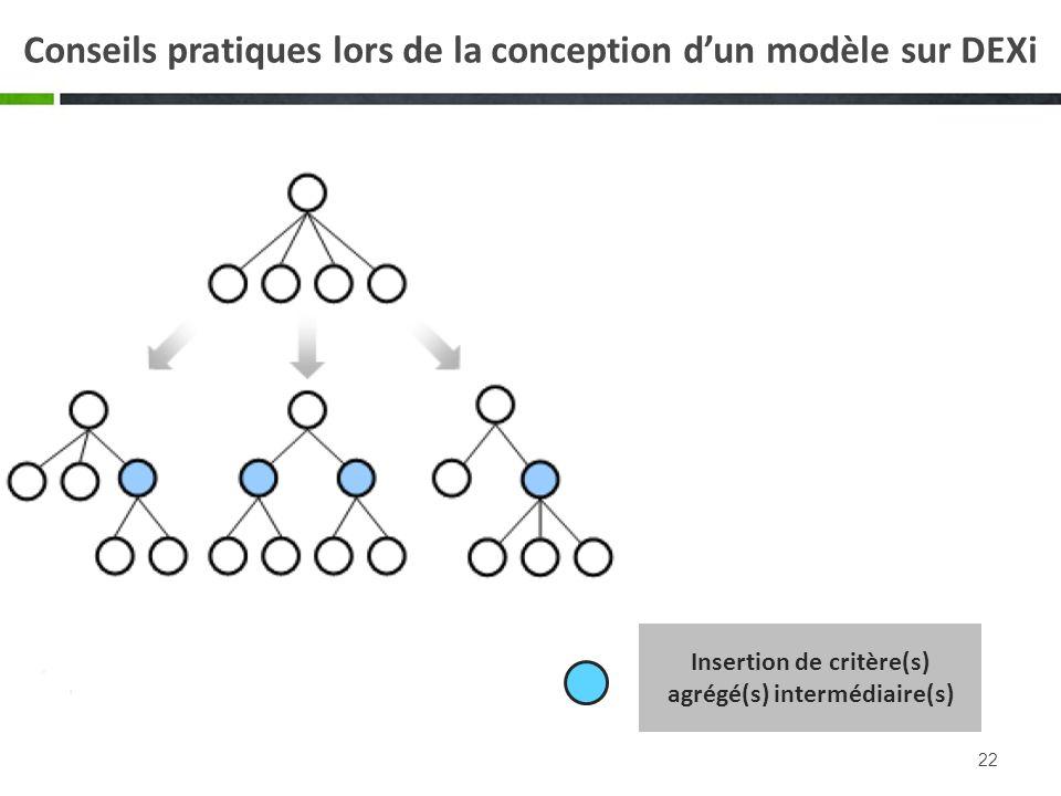 Conseils pratiques lors de la conception d'un modèle sur DEXi