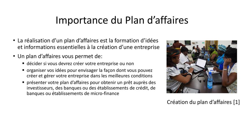 Importance du Plan d'affaires