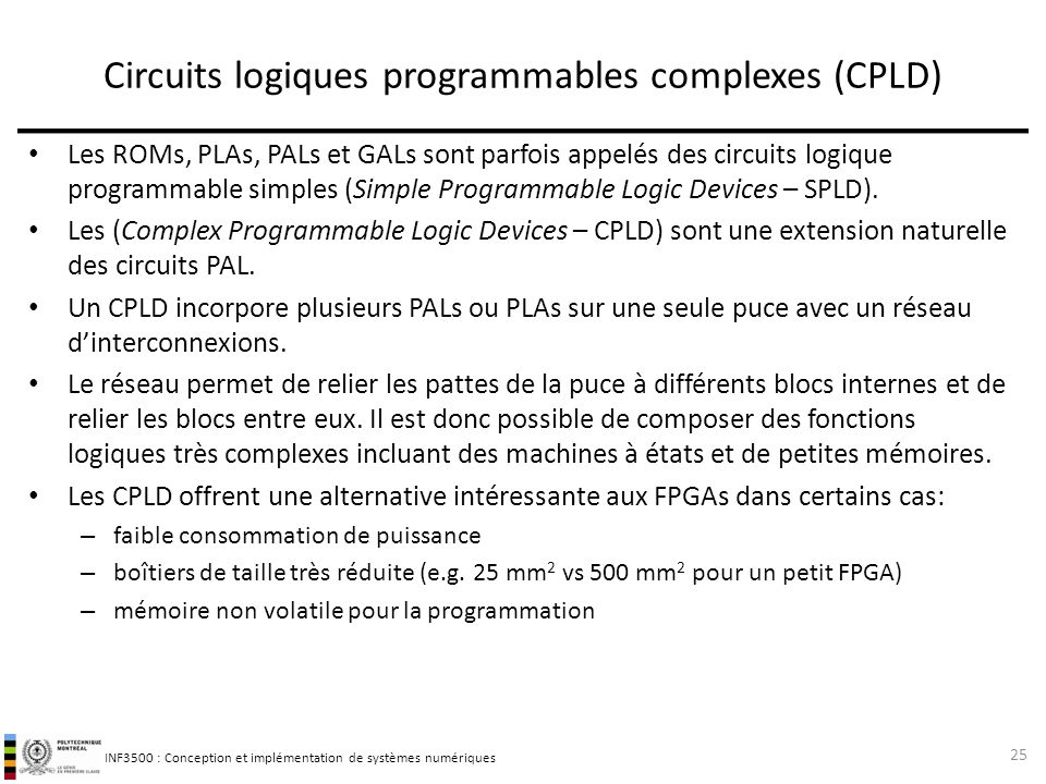 Circuits logiques programmables complexes (CPLD)