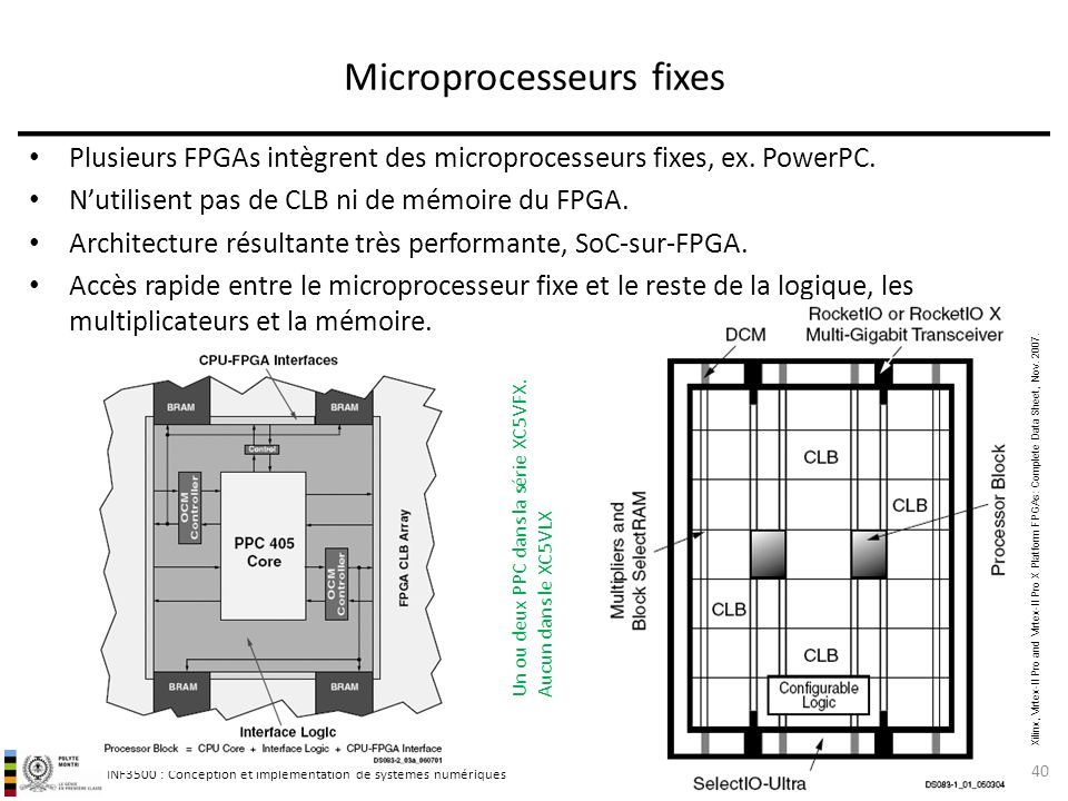 Microprocesseurs fixes