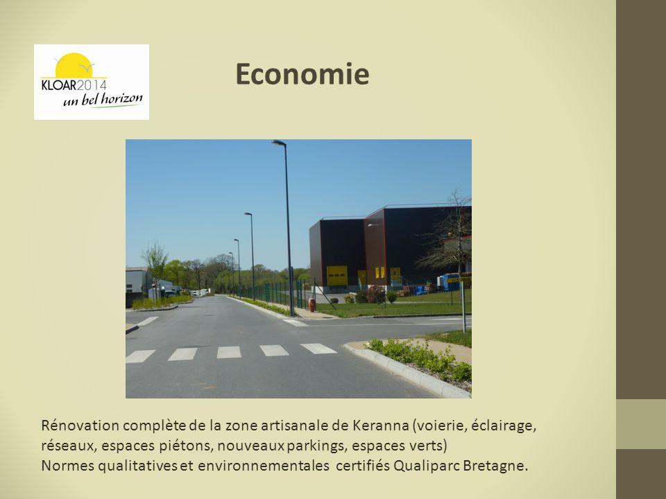 Economie Rénovation complète de la zone artisanale de Keranna (voierie, éclairage, réseaux, espaces piétons, nouveaux parkings, espaces verts)