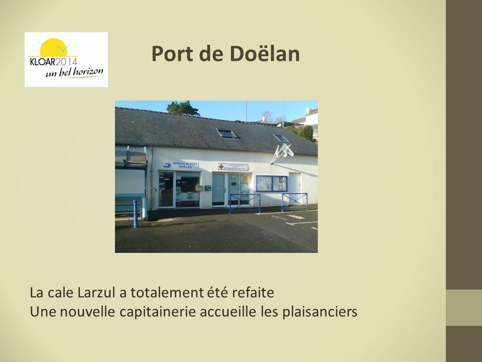 Port de Doëlan La cale Larzul a totalement été refaite
