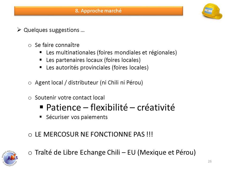 Patience – flexibilité – créativité