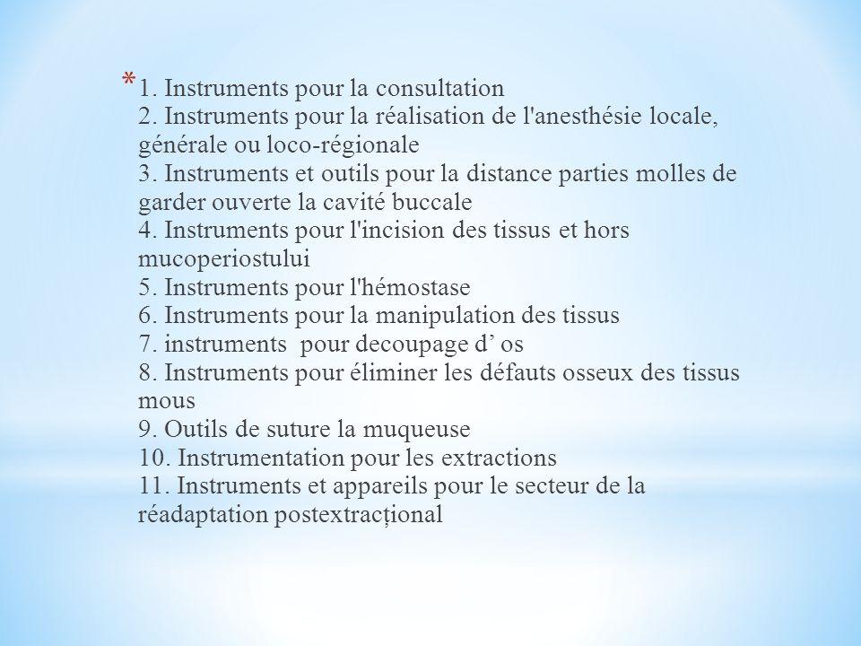 1. Instruments pour la consultation 2