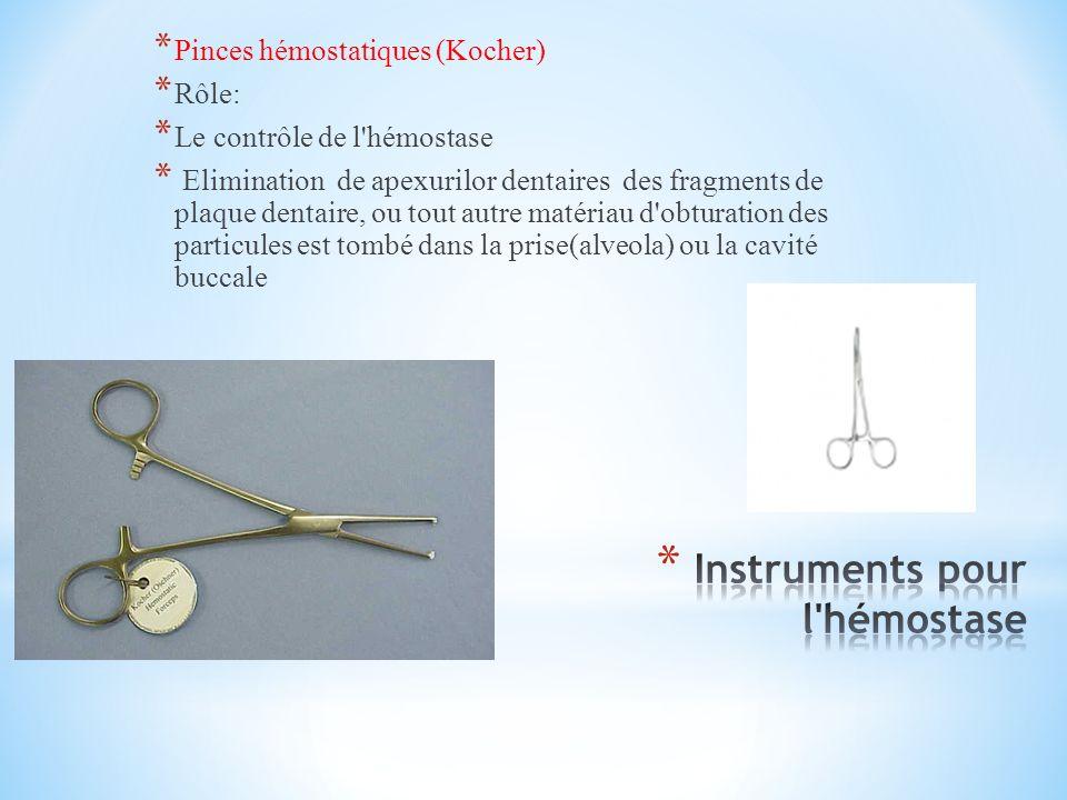 Instruments pour l hémostase