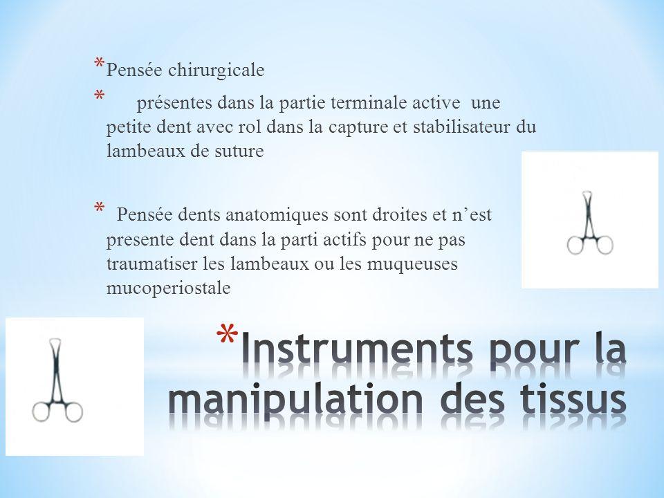 Instruments pour la manipulation des tissus