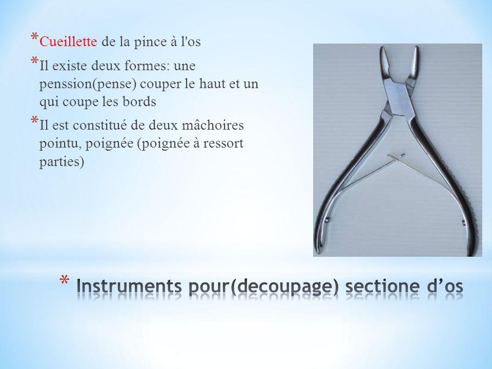 Instruments pour(decoupage) sectione d'os