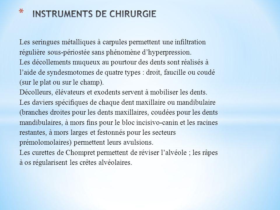 INSTRUMENTS DE CHIRURGIE