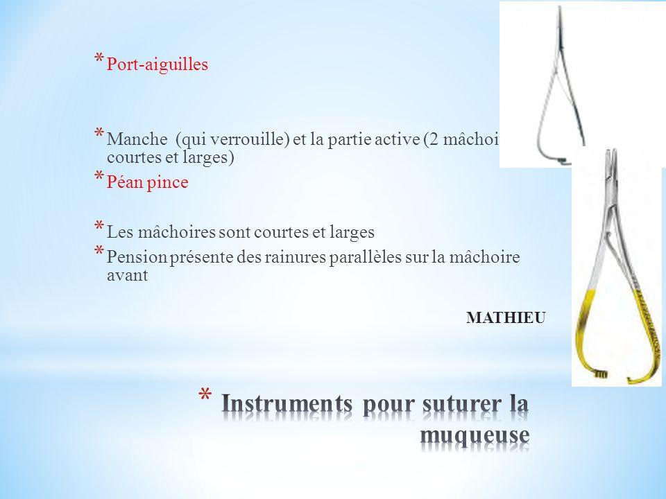 Instruments pour suturer la muqueuse